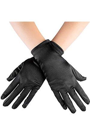 Xuhan Kurze Satin-Handschuhe für Frauen Opernhandschuhe Handgelenklänge - - Large