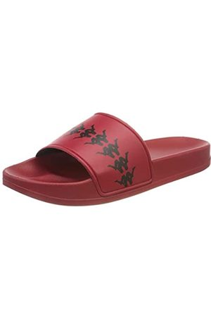 Kappa Damen Flip Flops - Unisex-Erwachsene Authentic 222 ADAM 4 Flip flop, (Red Black)