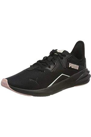 PUMA Damen Schuhe - Damen Platinum Shimmer WN's Gymnastikschuh, Black-Peachskin