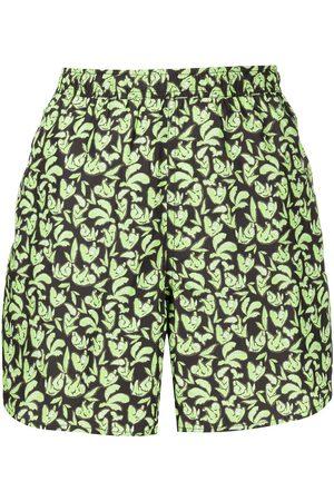 LHD Shorts mit Blatt-Print