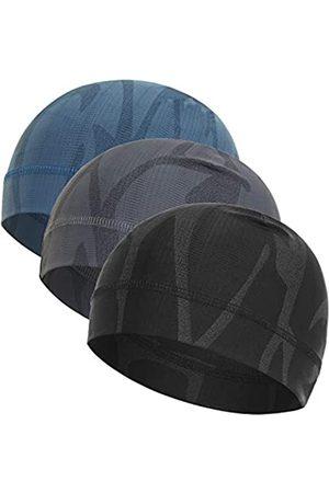WSHSTS Herren Caps - Helmfutter (3er-Pack) Eisseide kühlende Schädel Kappe, Outdoor atmungsaktive Beanie ideal zum Wandern, Laufen, Radfahren