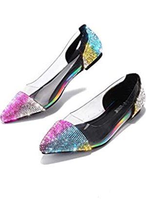 Cape Robbin Jinah Flache Sandalen für Damen, klare Pantoletten, Schlupfschuhe, Mehrere (regenbogenfarben)
