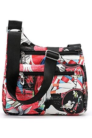 STUOYE Nylon Multi-Pocket Crossbody Geldbörse Taschen für Frauen Reise Schultertasche, (Fashion Lady)