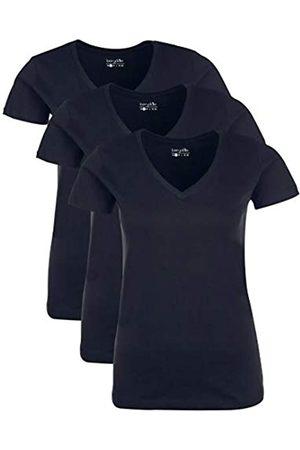 Berydale Damen T-Shirt mit V-Ausschnitt, 3er Pack