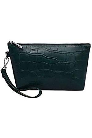 SUNGFINE Reise-Make-up-Tasche für Geldbörse, PU-Leder mit Textur, Reise-Kosmetiktasche, Kulturbeutel für Frauen und Mädchen, tragbar, wasserdicht, tägliche Aufbewahrung, Organzier