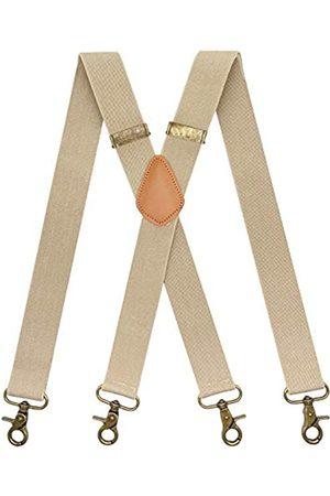 SupSuspen Karabinerhaken Hosenträger für Herren für Gürtelschlaufe Retro Hosenträger verstellbar - - Einheitsgröße