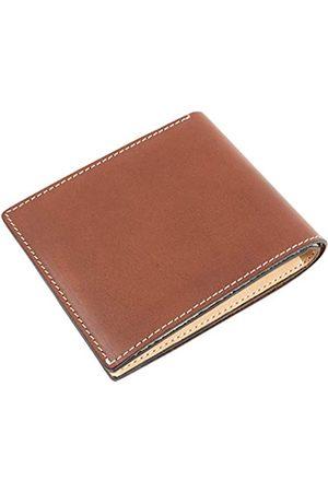 Dom Teporna Italy Herren Schuhe - Geldbörse aus genarbtem italienischem Leder für Herren, ideal für die Gesäßtasche., Braun (Dunkelbraun)