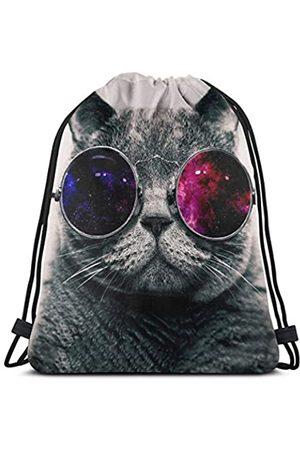 MSGUIDE Kordelzug Rucksack Tasche Polyester String Cinch Tasche Wasserdicht Gymsack für Damen & Herren