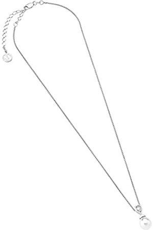 Majorica Damen-Halskette Anhänger mit Kette 48 cm lang, 10 x 12 mm, mit Perlen und Zirkonia