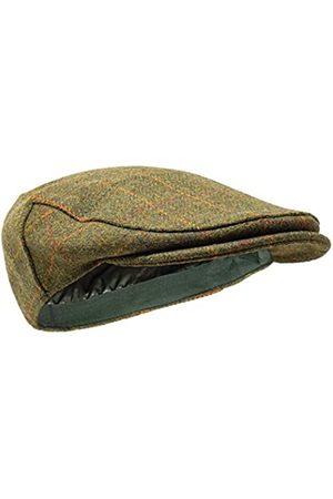Borges & Scott Woodsman Schirmmütze - Vollständig wasserdicht – Schiebermütze aus Yorkshire Tweed - Außenmaterial aus 100% Wolle - 62cm