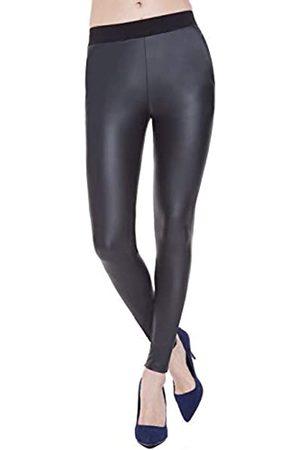 Everbellus Leggings aus Kunstleder für Damen, hohe Taille, Skinny Lederhose