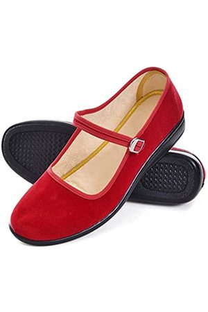 Dear Time Women's Chinese Mary Jane Flat Shoes Round Toe Cloth Walking Exercise Shoes US 8.5