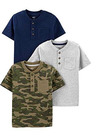 Simple Joys by Carter's T-Shirts - Henley kurzen Ärmeln, 3 Stück Modische T-Shirts, 3 Jahre