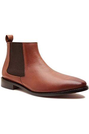 Allonsi Herren Chelsea Boots - | Thomas Herren Echtleder Chelsea Boots | Goodyear Welt Konstruktion | Klassische Chelsea Boots | Ledersohle | Handgefertigte Luxus-Lederschuhe, Braun (Chelsea, hellbraun.)
