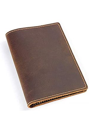 HUAMEIBANG Reisetaschen - Leather Passport Holder Potective Cover Travel Wallet (Brown)