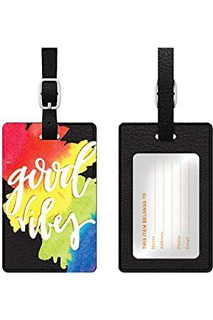 OTM Essentials Reisetaschen - Good Vibes Rainbow Leder Bag Tag - OP-BTV1BM-A-58