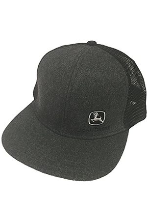 John Deere Brand Charcoal High Profile w/Suiting Fabric Snapback Hat - 13080463CH