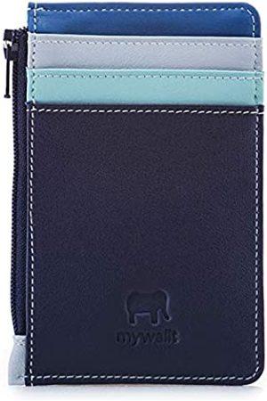 Mywalit 1206 - Leder Kreditkartenetui mit Münzfach Blau 80
