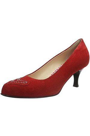 Diavolezza Damen Pumps - Damen Diana Pumps, (RED)