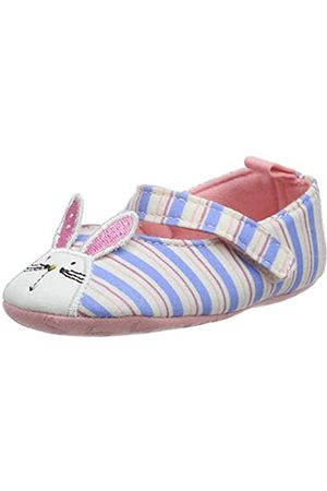 Joules Halbschuhe - Baby Mädchen Krabbelschuhe Littleton, (Blue Rabbit Stripe Blrbbtstp)
