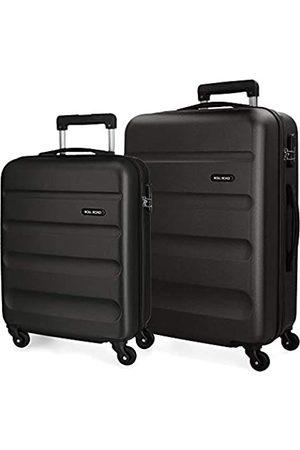 Roll Road Flex Kofferset 55/65 cms Hartschalen ABS Kombinationsschloss 91L 4 Räder Handgepäck