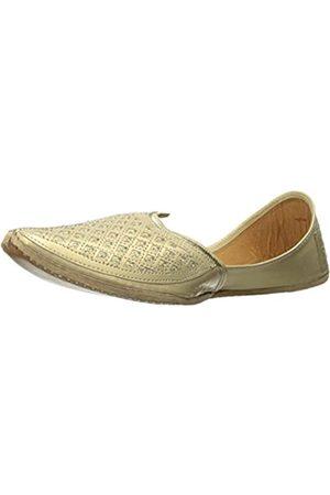 Step N Style Flacheene Khussa-Schuhe für Herren, traditionell, indisches Leder, Loafer, Punjabi Jutti