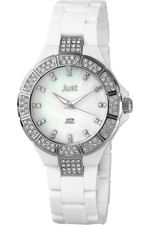 Just Watches Damen-Armbanduhr Analog Plastik 48-S9341A-WH