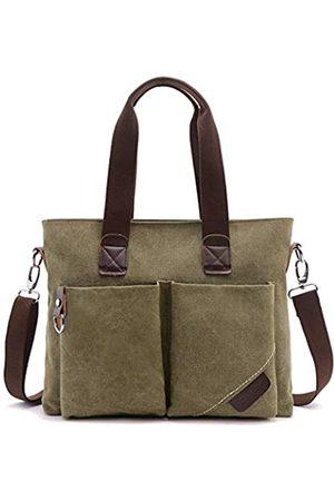 WITERY Laptop- & Aktentaschen - Vintage Canvas Business Laptop Tasche Messenger Bag Unisex für Arbeit