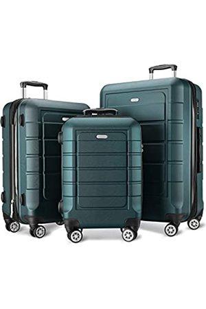 Showkoo Taschen - Gepäck-Sets, erweiterbar, PC + ABS, langlebig, Doppelrollen, TSA-Schloss
