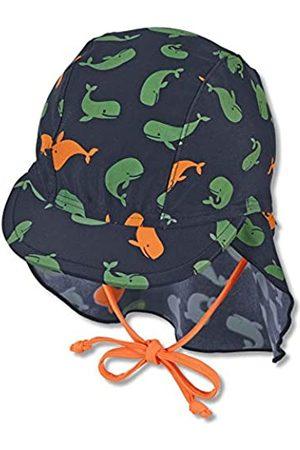 Sterntaler Baby-Jungen Schirmmütze mit Nackenschutz Wale Sonnenhut