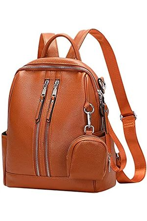 ALTOSY Genuine Leather Backpack Purse for Women Versatile Shoulder Bags with mini Coin Purse (S77 Caramel)