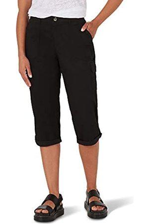 Lee Women's Flex-to-Go Mid Rise Cargo Capri Pant, Black