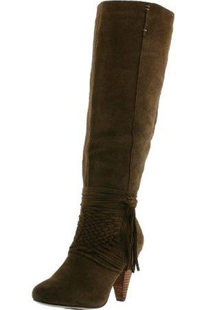 NAUGHTY MONKEY Damen Kniehohe Stiefel, (Taupe)