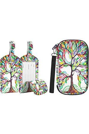 Fintie Reisepasshalter Gepäckanhänger Set – RFID-blockierender Reisebrieftasche, Organizer mit Tasche, Koffer, Name