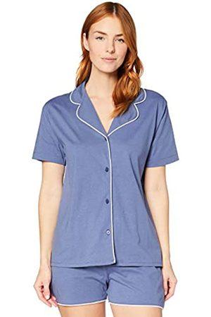 IRIS & LILLY Damen Pyjama-Set aus Baumwolle , XL