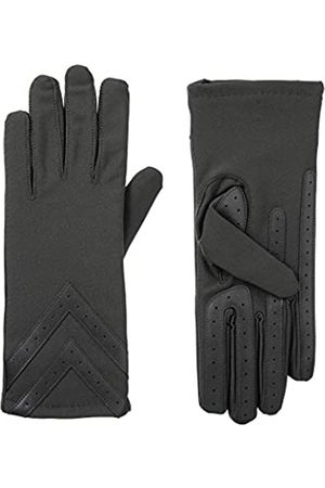 Isotoner Damen Handschuhe - Damen Fleece-Lined Gloves With Chevron Applique And Smart Touch Handschuhe für kaltes Wetter