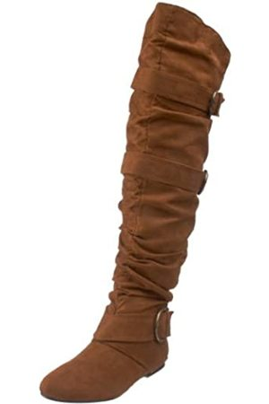 Not Rated Damen Overknees - Damen Single D Kniehohe Stiefel, (hautfarben)