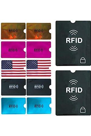 WUOJI Reisetaschen - RFID-blockierende Schutzhüllen (Kreditkartenschutzhüllen + Reisepasshüllen) Identitätsdiebstahlschutz Reiseetui Set