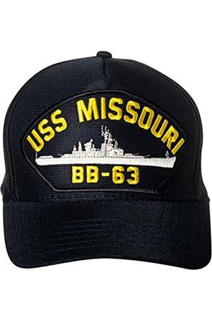 Artisan Owl Herren Caps - United States Navy USS Missouri BB-63 Battleship Emblem Patch Hat Navy Blue Baseball Cap