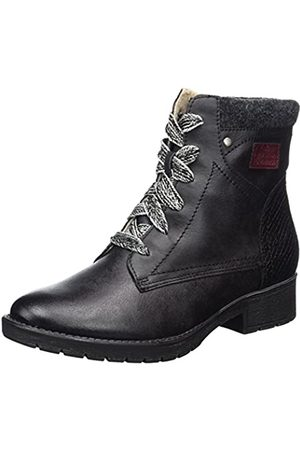 Soft Line Damen Stiefel - Damen 25261 Combat Boots, (Black)
