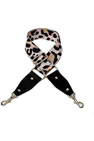 Beacone Breiter Leoparden-Ersatz-Gurt für Geldbörse, verstellbarer Schultergurt, Handtaschengurt, (D-pink)