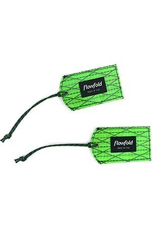 Flowfold Reisetaschen - Gepäckanhänger aus recyceltem Segeltuch – 2er-Set – Helles und einzigartiges Reisezubehör – leicht zu Finden vegan