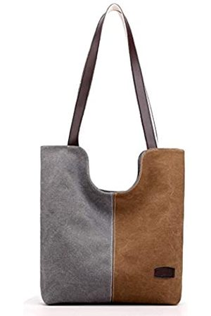 Hiigoo Damen Umhängetaschen - Baumwoll-Leinen-Reisetasche, lässige Schultertasche, modische Einkaufstasche