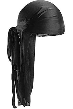 beauty YFJH Seidige Durag Headwraps für Herren und Damen, extra langes, breites Band, Piratenkappe