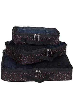 Ben Sherman 3-teiliges Packwürfel-Set für Reisen – (klein/mittel/groß) leichtes Gepäck Packwürfel-Set mit Designdrucken (Pink) - 150185S