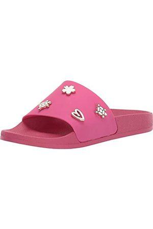 Jack Rogers Damen Sandalen - Damen Kennedy Pool Slide, 5, Pink (magenta)