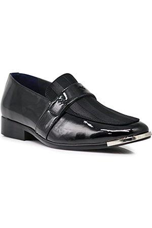 Enzo Romeo Herren Halbschuhe - JY2N Herren Satin Metall Silber Spitze Oxford Kleid Schuhe Streifen Kirche Hochzeit Party Groomsmen Oxfords Kleid Schuhe, ( 01)