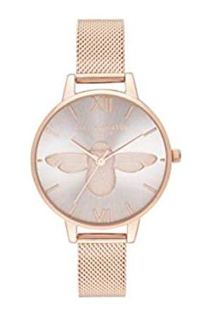 Olivia Burton Damen Analoger Quarz Uhr mit Edelstahl Armband OB16AM161