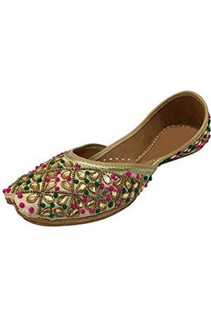 Step N Style E bestickte handgemachte Frauen Ballettschuhe Mojari Sandel Juti Khussa Schuh, (mehrfarbig)