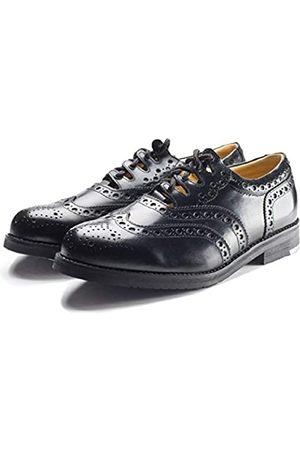 Thistle Shoes Ghillie Brogue Kilt Schuhe aus Leder, traditionelles schottisches Piper und Highland Outfit, Hochzeitsschuhe mit extra Langen Schnüren und Lederquasten, Größe 4-15